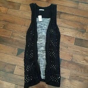 Maurices Black Lace Vest